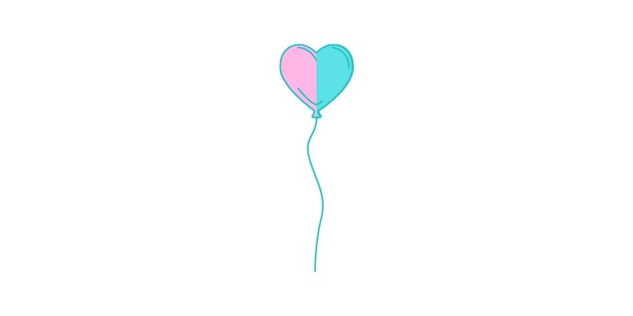 Bessere-Hälfte-Luftballon